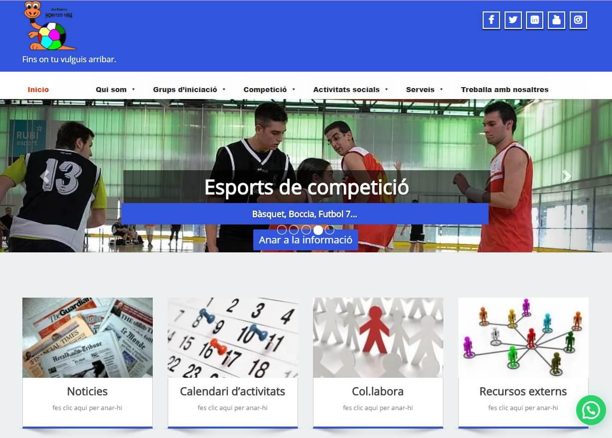 L'Horitzó presenta el seu nou web a www.horitzo.cat
